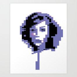 8 Bit Portrait of a Girl Art Print