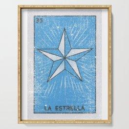 La Estrella Mexican Loteria Bingo Card Serving Tray