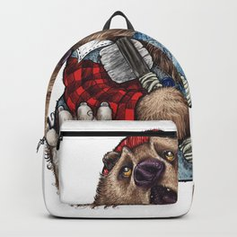 Sleepy LumberJack Bear Backpack