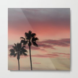 Atmospherics Number 3: Two Palms in the Sunset Metal Print