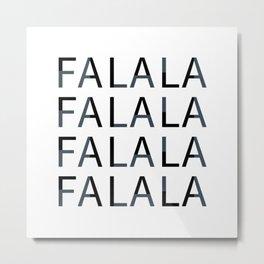 Falalal Christmas Art Metal Print