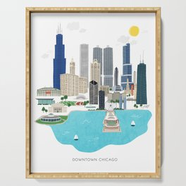 Chicago Illustration Serving Tray
