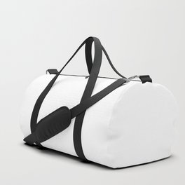 White Minimalist Solid Color Block Spring Summer Duffle Bag