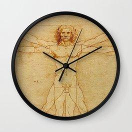 VITRUVIAN MAN - LEONARDO DA VINCI Wall Clock