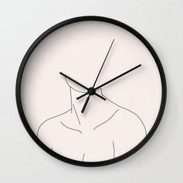 Neckline illustration - Nadia I Wall Clock