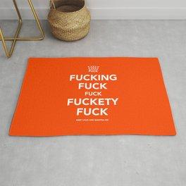 Fucking Fuck Fuck Fuckety Fuck- Orange Rug