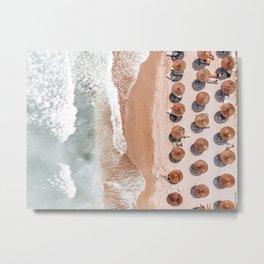 Aerial Beach Print, Beach Photography, Aerial Photography, Blue Ocean Print, Sea Beach Print Metal Print