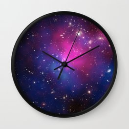Dark Matter and Galaxies in a Cluster Wall Clock