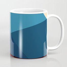 COLORFUL ABSTRACT LANDSCAPE ILLUSTRATION Coffee Mug