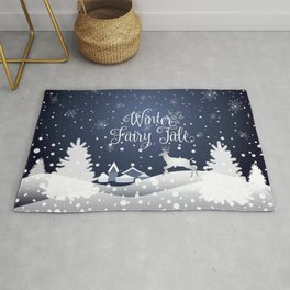 Christmas Winter Fairy Tale Fantasy Snowy Forest - Collection Rug