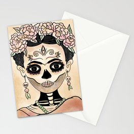 Catrina Frida in Dia de Muertos Stationery Cards