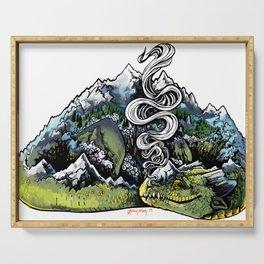 Mountain Dragon Serving Tray