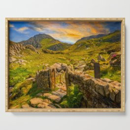 Gate to Snowdonia Wales Serving Tray