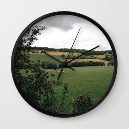 England rural landscape Wall Clock