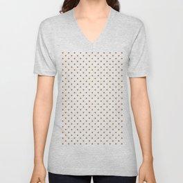 Dots (Bronze/White) Unisex V-Neck