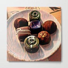 Toon Chocolates Assortment - Chocolaterie Metal Print