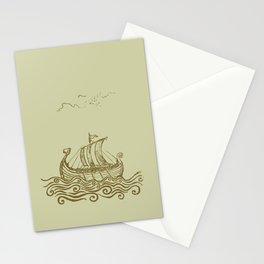 Viking ship Stationery Cards