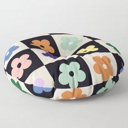 Bloom Check Multi Floor Pillow