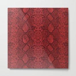Ruby Red Snakeskin Metal Print