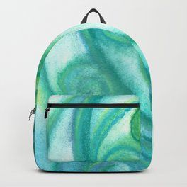 Pastel Blue Curls  Backpack