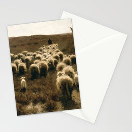 The Return of the Flock, Laren by Anton Mauve Stationery Cards