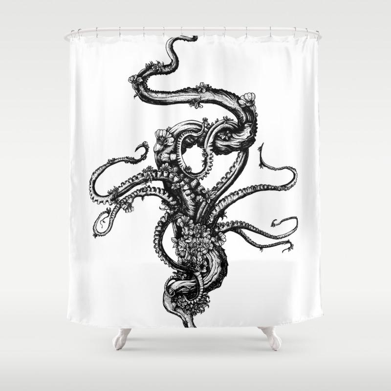 Kraken shower curtain - Kraken Shower Curtain 56