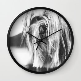 Coiffure - Yorkie - Black and White Wall Clock