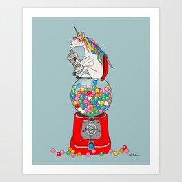 Unicorn Gumball Poop Kunstdrucke
