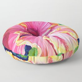 Tropical Bliss Hibiscus Floor Pillow