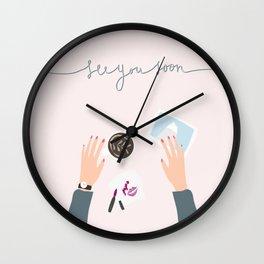 see you soon Wall Clock
