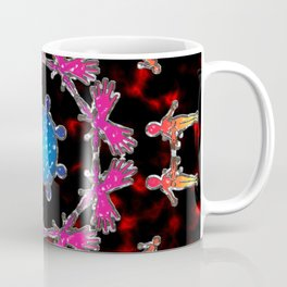 Alien Gemstone Mandala With Red Plasma Coffee Mug