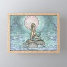 The Pastel Sea Mermaid Fantasy Art by Molly Harrison Framed Mini Art Print