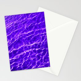 Water Reflections in the Sea - Purple Stationery Cards