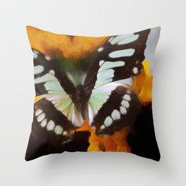 Summer Butterfly | Still Life Art Throw Pillow