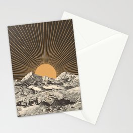Mountainscape 6 - Night Sun Stationery Cards