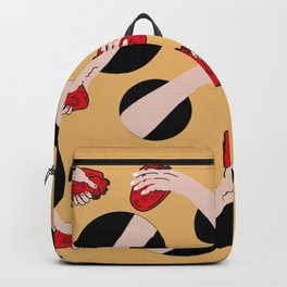 I give you my heart YELLOW #pattern Backpack