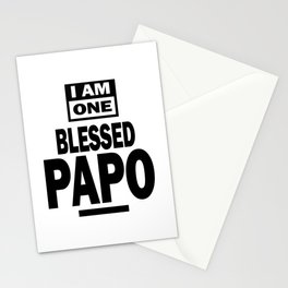 Mens I Am One Blessed Papo Fathers Day Gift Stationery Cards
