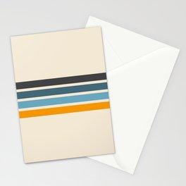 Vintage Retro Stripes Stationery Cards