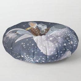 creating stars Floor Pillow