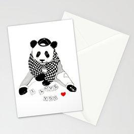 I love you baby panda Stationery Cards