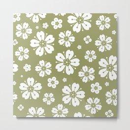 Flowers Pattern 23 Metal Print
