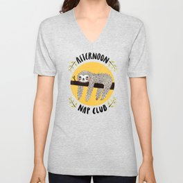 Afternoon Nap Club Sloth Unisex V-Neck