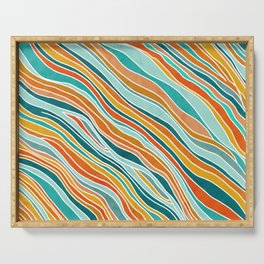 Tulum Summer Abstract Serving Tray