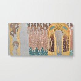 Gustav Klimt - Beethovenfries Metal Print