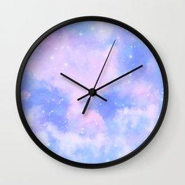 Pastel Cloulds Sky Seamless Nebula 8 Wall Clock