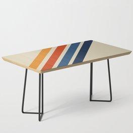 Rainbow 70s 60s Stripe Colorful Rainbow Tan Retro Vintage Coffee Table