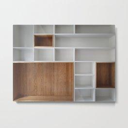 Empty closet shelves Metal Print