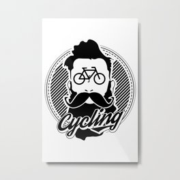 cycling hipster Metal Print