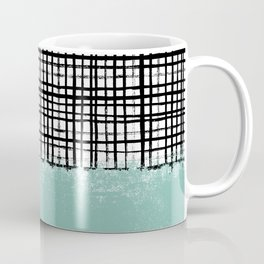 Mila - Grid and mint -  paint, art, artist cell phone case, grid phone case Coffee Mug