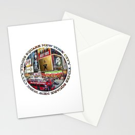 Times Square New York City (badge emblem on white) Stationery Cards